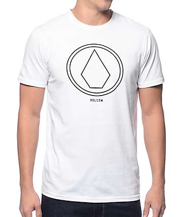 Volcom Pin Lin White T-Shirt