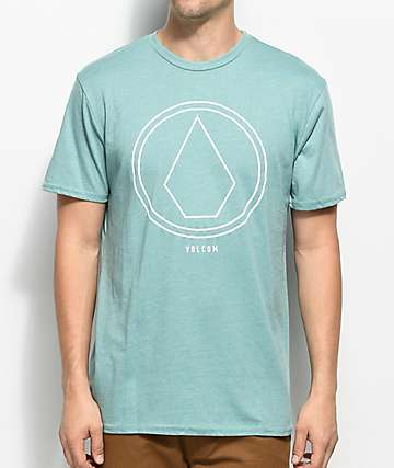 Volcom Pin Line Stone camiseta en verde azulado
