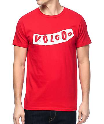 Volcom Pistol Red & White T-Shirt