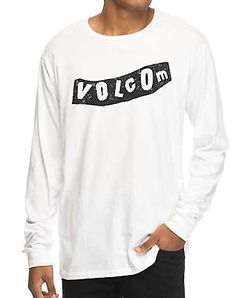 Volcom Pistol White & Black Long Sleeve T-Shirt