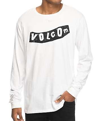 Volcom Pistol camiseta de manga larga en blanco y negro