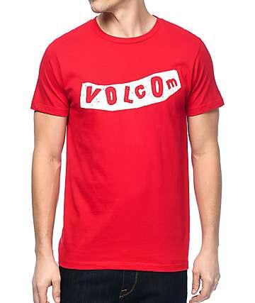 Volcom Pistol camiseta en rojo y blanco