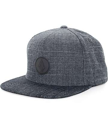 Volcom Quarter Fabric Black Snapback Hat