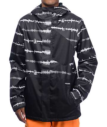 Volcom Retrospec Black Tie Dye 8K Snowboard Jacket