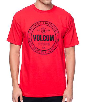 Volcom Riot camiseta en rojo