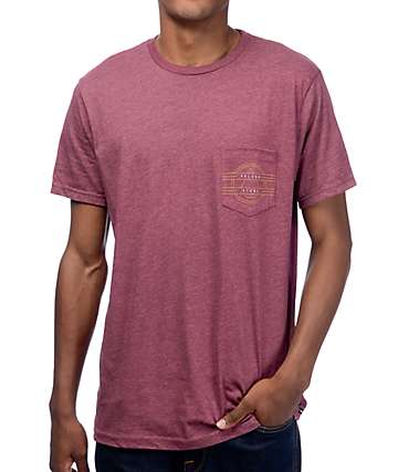 Volcom Rookie Burgundy Pocket T-Shirt