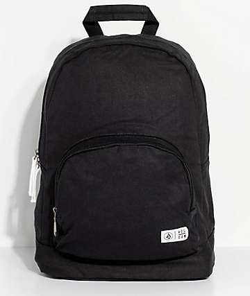 Volcom School Yard Black Canvas Backpack