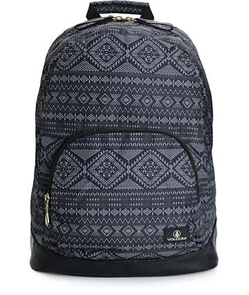 Volcom Schoolyard Black Geo Backpack
