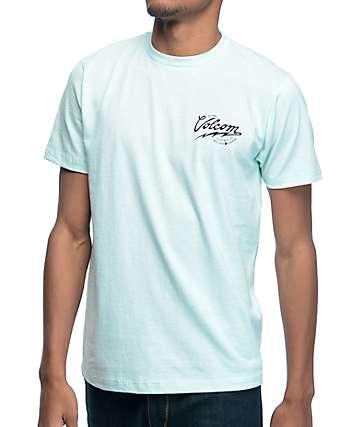 Volcom Seal camiseta en verde azulado pastel