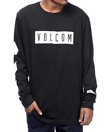 Volcom Shifty Black Long Sleeve T-Shirt