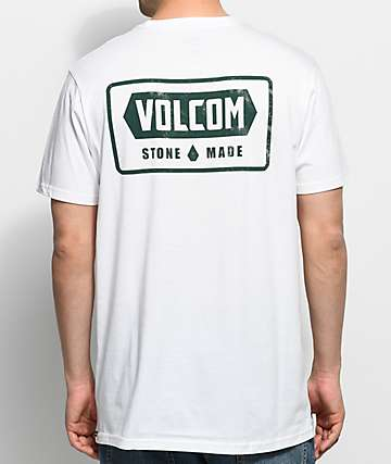 Volcom Shop camiseta blanca con bolsillo