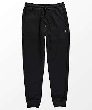 Volcom Single Stone Black Sweatpants