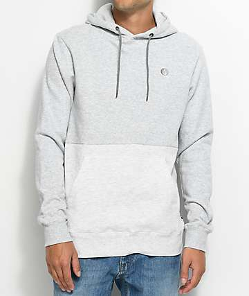 Volcom Single Stone Grey & White Pullover Hoodie