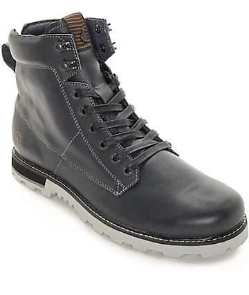 Volcom Smithington Gunmetal Premium Leather Boots