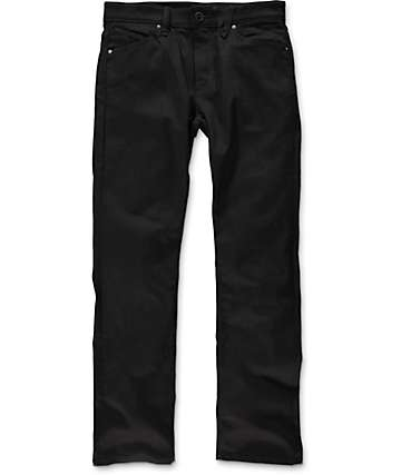 Volcom Solver Black On Black Modern Fit Jeans