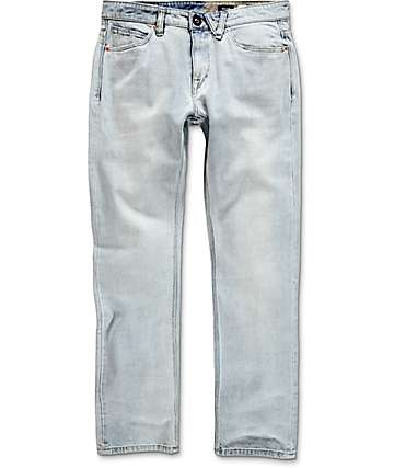 Volcom Solver Light Blue Modern Straight Jeans