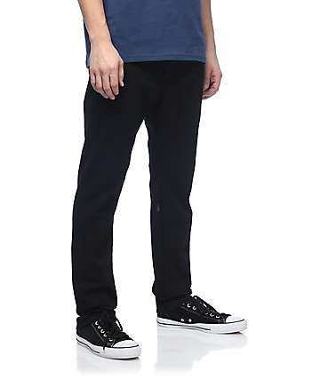 Volcom Solver Taper Black Twill Denim Jeans