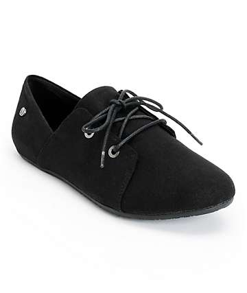 Volcom Soul Mates Black Canvas Oxford Shoes