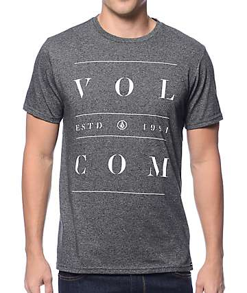Volcom Spaced Out Charcoal T-Shirt
