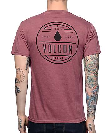 Volcom Spinner Burgundy T-Shirt