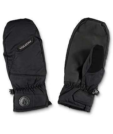 Volcom Stay Dry mitones de snowboard en negro