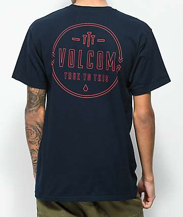 Volcom Steered Navy T-Shirt