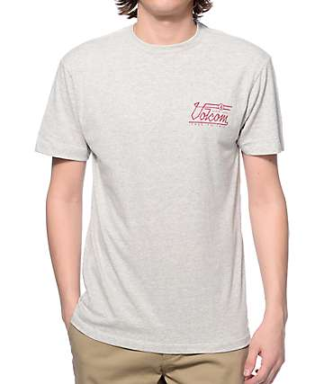 Volcom Straight Up Heather Grey T-Shirt