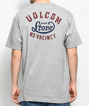 Volcom Strike Heather Grey Pocket T-Shirt