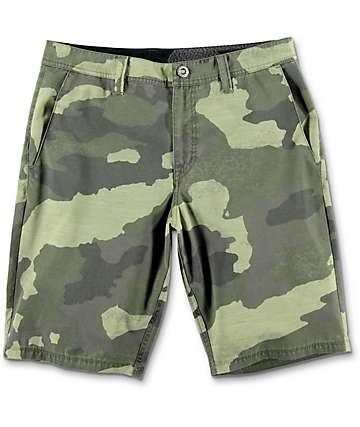 Volcom Surf N' Turf Mix shorts híbridos camuflados