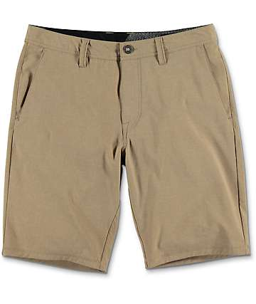 Volcom Surf N' Turf Static Dark Khaki Hybrid Shorts