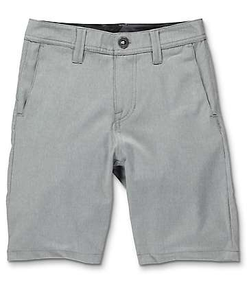 Volcom Surf N' Turf Static Gun Metal Boys Hybrid Shorts
