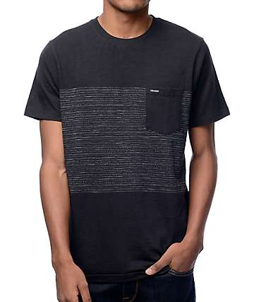 Volcom Threezy Black Stripe Pocket T-Shirt