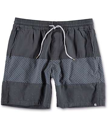 Volcom Threezy Black Walk Shorts