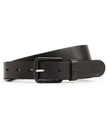 Volcom Thrift Black Leather Belt