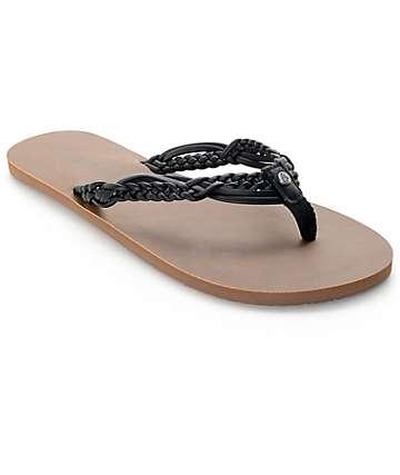 Volcom Tipsy Black Sandals