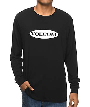 Volcom Tractor Black & White Long Sleeve T-Shirt
