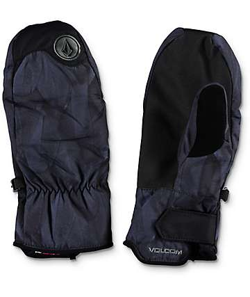 Volcom V-Paw Feather Black Snowboard Mittens