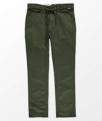 Volcom VSM Gritter Slim Dark Green Chinos