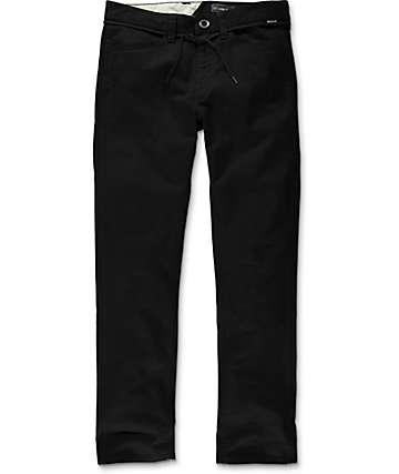 Volcom VSM Gritter Slim Fit Black Chino Pants