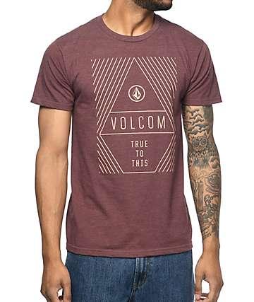 Volcom Vanish camiseta en color vino