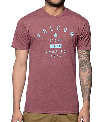 Volcom Vertigone Heather Burgundy T-Shirt
