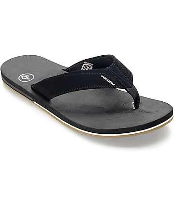 Volcom Victor sandalias en negro y color goma