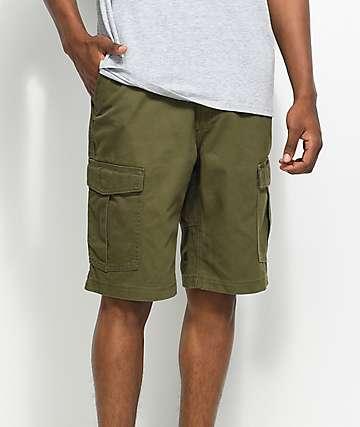 Volcom Vmight shorts cargos en color verde olivo