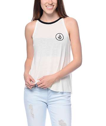 Volcom Volcamp White Swing Tank Top