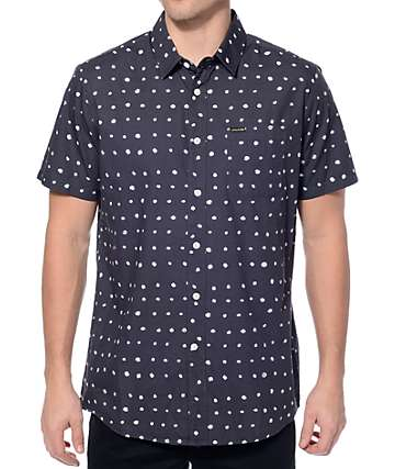 Volcom Volka Dot Charcoal Button Up Shirt