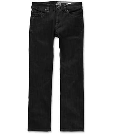 Volcom Vorta Boys Black Rinser Straight Fit Jeans