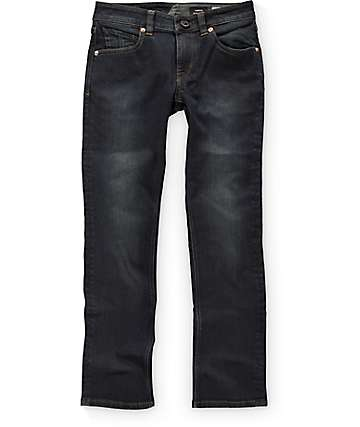 Volcom Vorta Boys Vintage Navy Slim Straight Fit Jeans