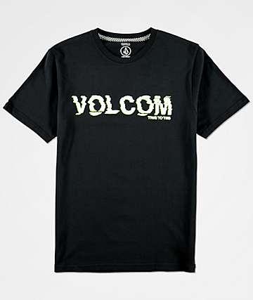 Volcom Warp camiseta negra para niños
