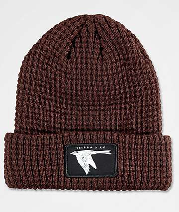 Volcom X Kyle Walker Brown Cuff Beanie