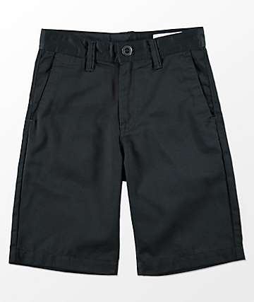 Volcom Youth Frickin Black Chino Shorts